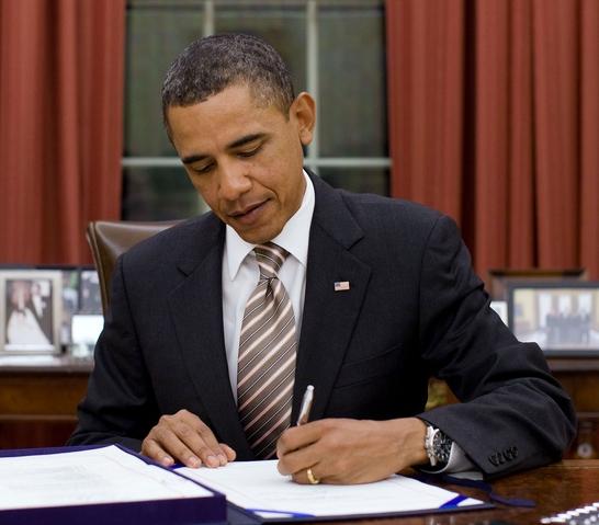 President Obama left handed inverted