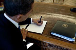 obama inverted writing