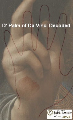 D' Palm of Da Vinci Decoded