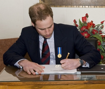 Prince William Left Hand Inverted Writing