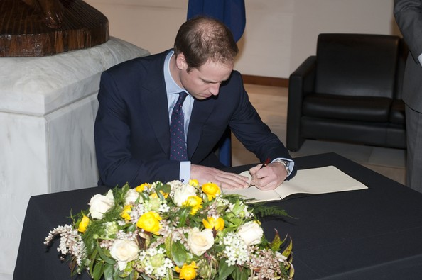 Prince William inverted writing