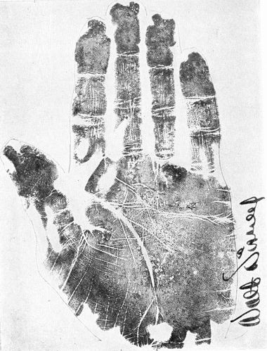 Walt Disney's Palm Print